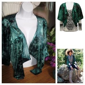 NEW BKE BOUTIQUE by BUCKLE marl green shrug M